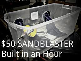 Media Blasting Cabinet Plans by Diy Sand Blaster 50 In An Hour 4 Steps With Pictures