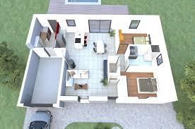 maison plain pied 2 chambres plan maison plain pied 2 chambres 3d