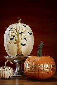 Fake Carvable Plastic Pumpkins by You Can Put The Knife Away For These Artsy No Carve Pumpkins