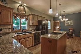 traditional kitchen with tile breakfast nook in omaha ne