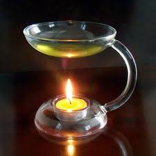 Wolfard Hand Blown Oil Lamps by Pretty Candle Oil Burner On Table Home Decorations