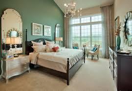 Splendiferous Master Attic Green Bedroom Ideas With Dark Wood Bed Frames Plus Mirrored Bedside Table