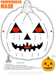 Pumpkin Head Halloween Mask To Print Out And Color