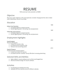 Resume Example For Teenager First Job High School Student