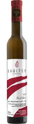 exultet estate ontario wine 2013 pinot noir fortified wine png