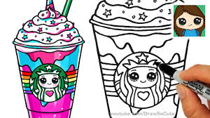 How To Draw A Starbucks Unicorn Frappuccino So Cute
