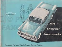 100 Truck Accessories Chevrolet 1958 Custom Feature Dealer Album Original