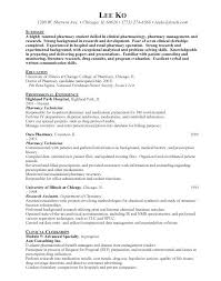 Pharmacist Resume Template Pharmacy Technician Templates Free