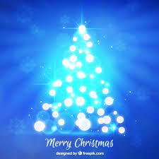 Bright Christmas Tree Background Free Vector