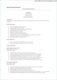 Resume Examples For Massage Therapist Example Occupational Therapy Sample Template Physical Experience Entry