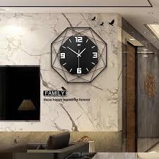 35 45 55 60cm polygon quarz wanduhr wand aufkleber schwarz weiß gelb nordic moderne wand uhr wohnzimmer küche wohnkultur