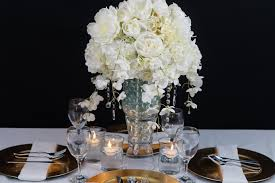 Creating This Beautiful All White With A Hint Of Gold Wedding Centerpiece Is Perfect For Your Winter The Added Sparkle Accents Are Sure