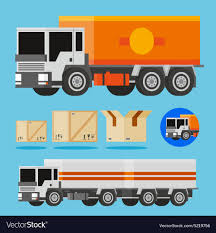 100 Delivery Trucks Orange And White Delivery Trucks Royalty Free Vector Image