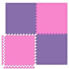 pink interlocking foam play mats playroom office