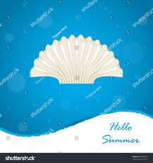 100 Sea Shell Design Summer Background Special Stock Illustration