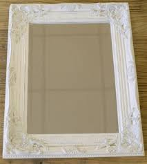 Shabby Chic White Bathroom Vanity by Silver Gilded Or White Shabby Chic Bathroom Hall Wall Small Mirror