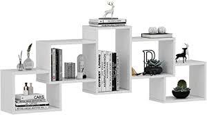 homidea bold wandregal bücherregal hängeregal dekoregal für wohnzimmer in modernem design weiß