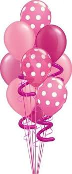 Birthday Balloons Clipart intended for Pink Birthday Balloons Clipart 2934