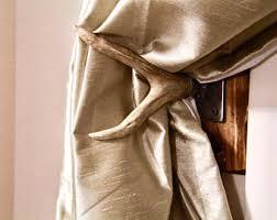 Antler Curtain Tie Backs by Antler Curtain Tie Back Holdback Cabin Decor Primitive