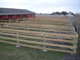 48 Tall 4 Rail Corral Fence For Horse Pens