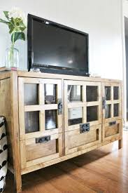 Drill In Cabinet Door Bumper Pads by Modern Diy Tv Console In Seven Simple Steps