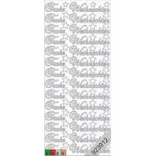 Starform Sticker Frohe Weihnachten Gold 451