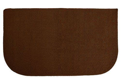 Ritz Accent Kitchen Rug with Latex Backing, 50cm by 90cm , Chocolate Brown