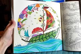 Coloring Page In Progress Of The Leaf Sailboat Enchanted Forest Book