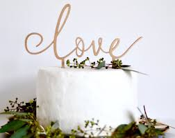 Love Cake Topper Wedding Decoration Sign Anniversary Rose Gold