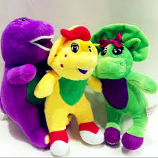 100 Barney Fire Truck And Friends Soft Plush Toy With Music Player Dinosaur Toy For