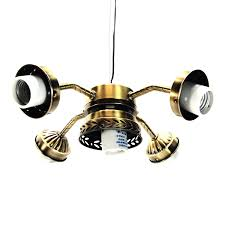 5 light ceiling fan kit with straight arm l pull switch antique