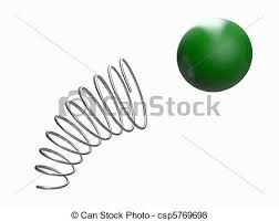 Metal Spring Isolated On White Background Stock Illustration