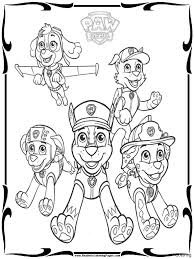 Cartoon Character Paw Patrol Coloring Pages Pictures To Print 17f Lively Printable Tracker Page