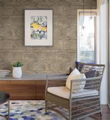 mauer tapete braun grau modern wohnzimmer schlafzimmer büro