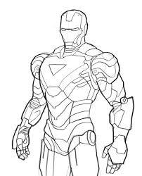 Stylish Inspiration Iron Man Coloring Pages Ironman Mark06 Book