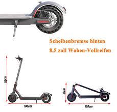 elektroroller mit app steuerung e scooter e roller 350w 36v 7 5ah akku 30km 25km h 3