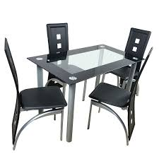 US $190.84 26% OFF|110cm Black Dining Table Set Tempered Glass Dining Table  With 4pcs Chairs Bedroom Living Room Table Dining Table Chairs On ... Sede Black Leather Walnut Ding Chair Chairs Accent For Fascating Bedroom Design Ideas Using White And Chair Remarkable Room 30 Rooms That Work Their Monochrome Magic Grey And Living 42 Best Glass Coffeemagazeliving Bedroom Table In 20 Small For Bedroom 6 Tips Mixing Wood Tones A Singapore Fiber Optics Contemporary With Black Us 19084 26 Off110cm Table Set Tempered Glass With 4pcs Room On Surprising Colour Fniture Sets King Wrought Iron Cast Metal Locker