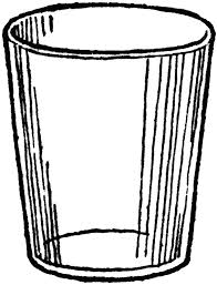 Glass of water clipart black and white free