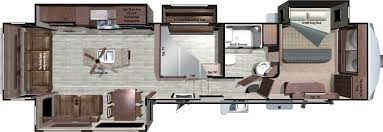 Travel Trailer Floor Plans Rear Kitchen by 2017 Roamer Fifth Wheels Rf371mbh By Highland Ridge Rv