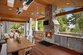 Covered Deck With Patio Heaters Electric Patio Design Ideas