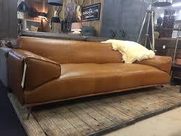 Cb2 Julius Sleeper Sofa by Design Bank In Da Silva Leder Luxe 244cm Van Mokana Enschede