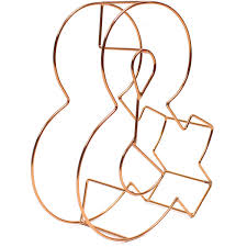 Copper Wire Letter 15 Cm Hobbycraft