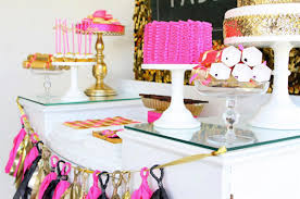 Pink And Gold Birthday Themes by Pink U0026 Gold Birthday Party Decor B A S Blog