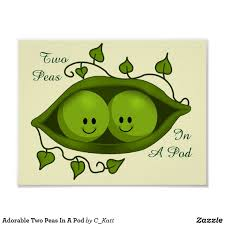 Adorable Two Peas In A Pod Poster | Zazzle.com | Cute Poster ...