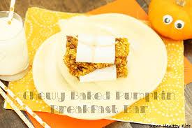 Bake Pumpkin For Pies by Chewy Baked Pumpkin Breakfast Bar Recipe Healthy Ideas For Kids