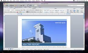 Microsoft fice for Mac 2011 Word Ribbon interface default
