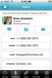Iphone Contacts Microsoft Lync