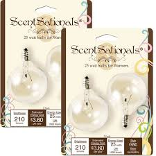 25w light bulbs 2pk scentsationals