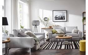 3 sitzer sofa natura redington in hellgrauem stoff
