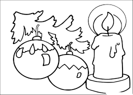 Coloriage Bougie